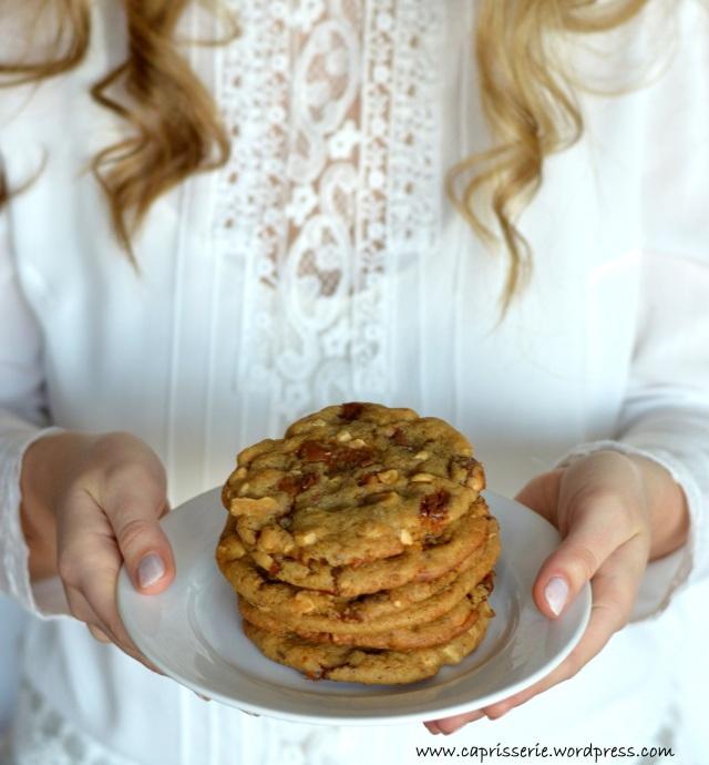 Salted Peanut Caramel Cookies.Foto